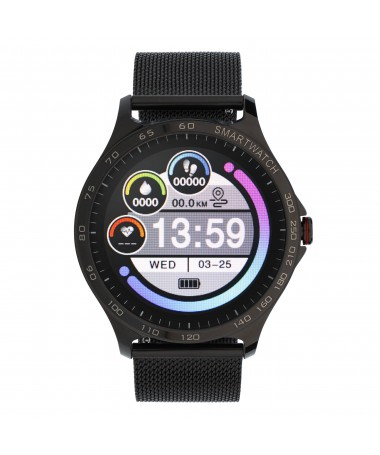 Smartwatch Garett Sport Factory RT czarny, stalowy