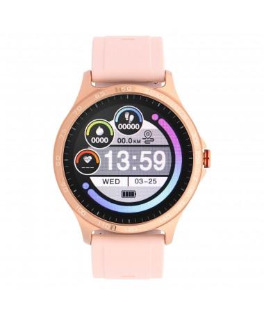 Smartwatch Garett Sport Factory RT złoty-róż