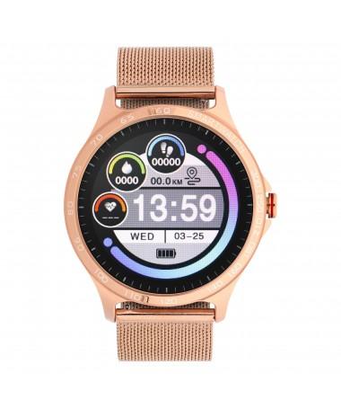Smartwatch Garett Sport Factory RT złoty, stalowy